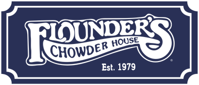 Flounders Chowder House Logo will link to the home page