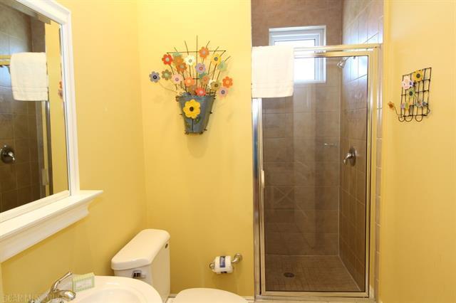 Bathroom with yellow walls