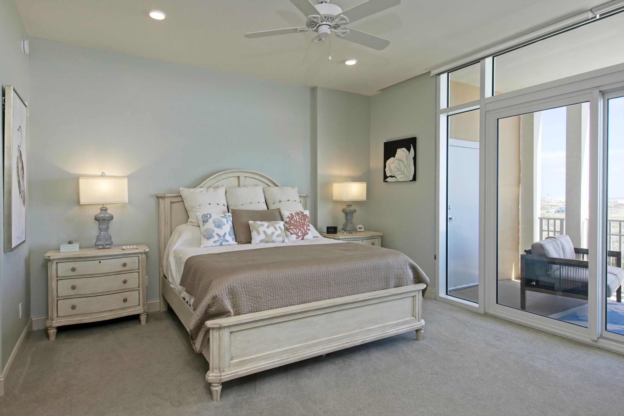Large Master Bedroom with Beach Views