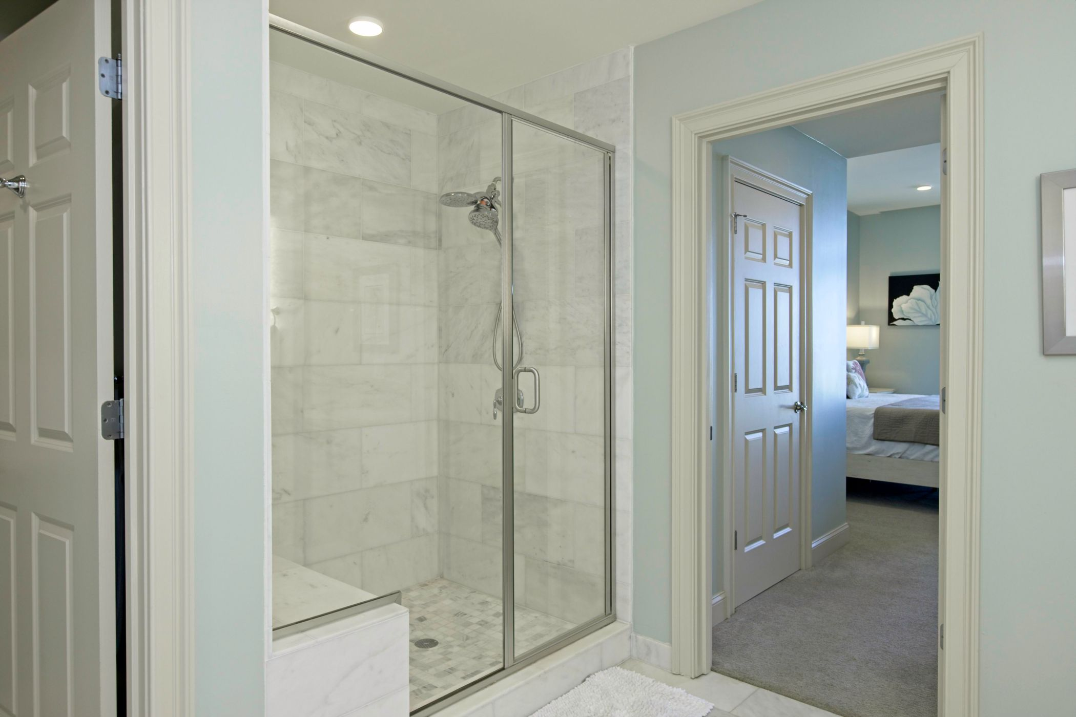 Glass Shower in Master Bathroom