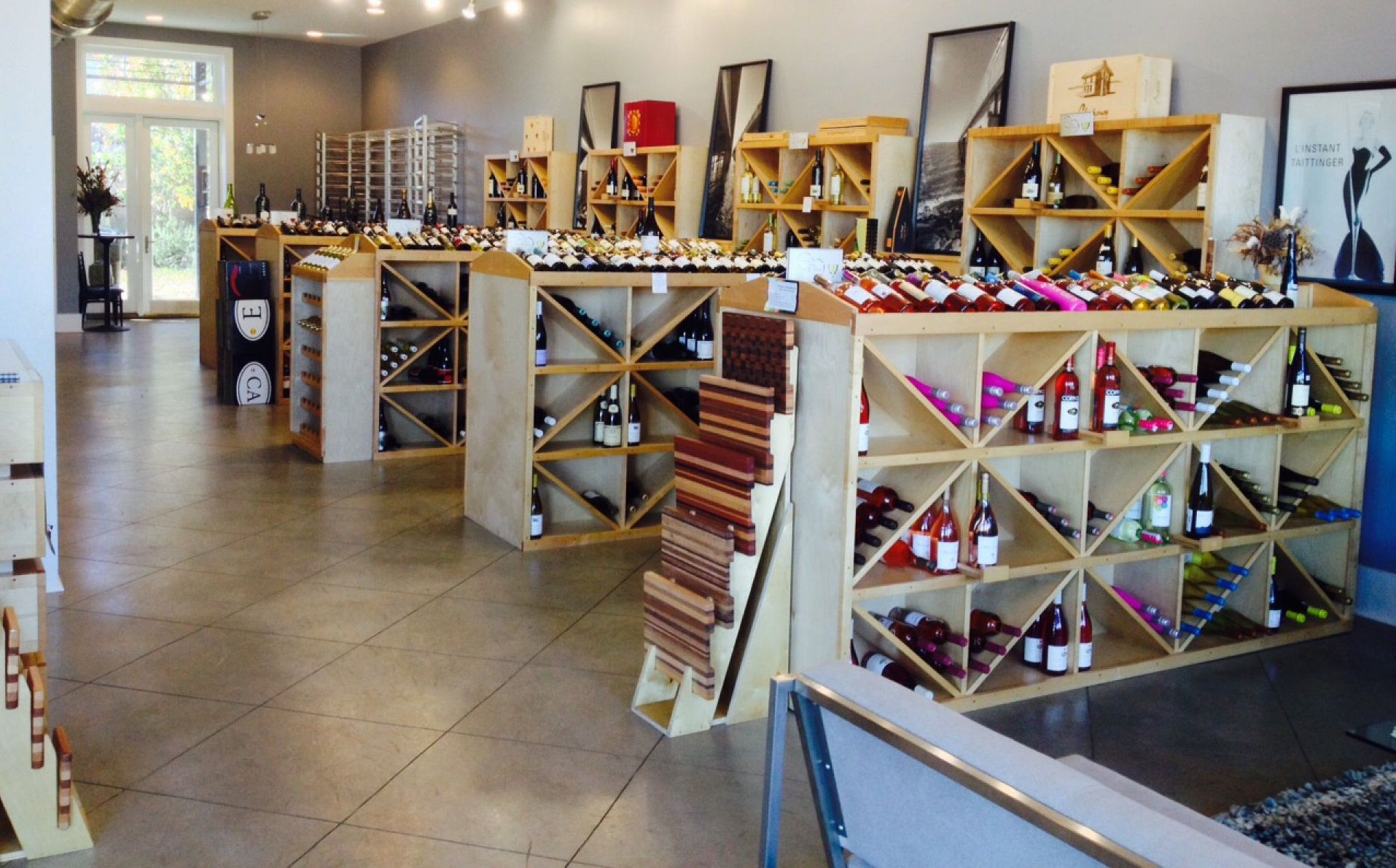 Wine display inside aragon wine market