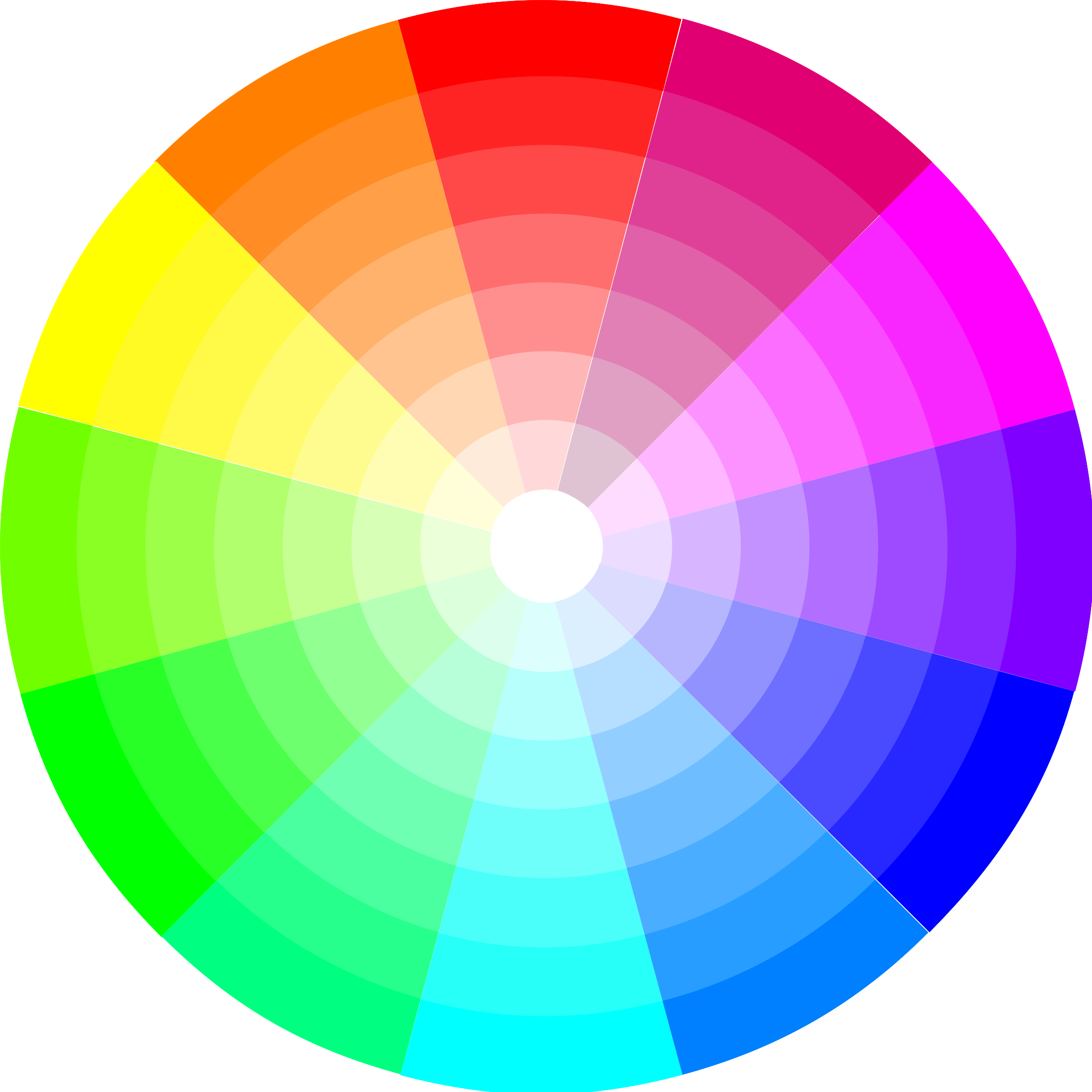Wheel composed of all the colors in the color spectrum