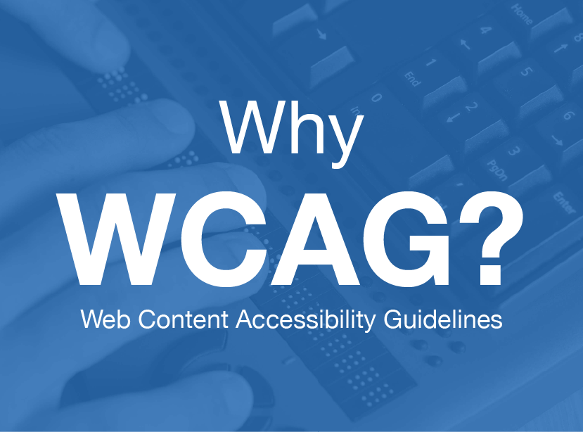 the words Why WCAG in a dark blue font