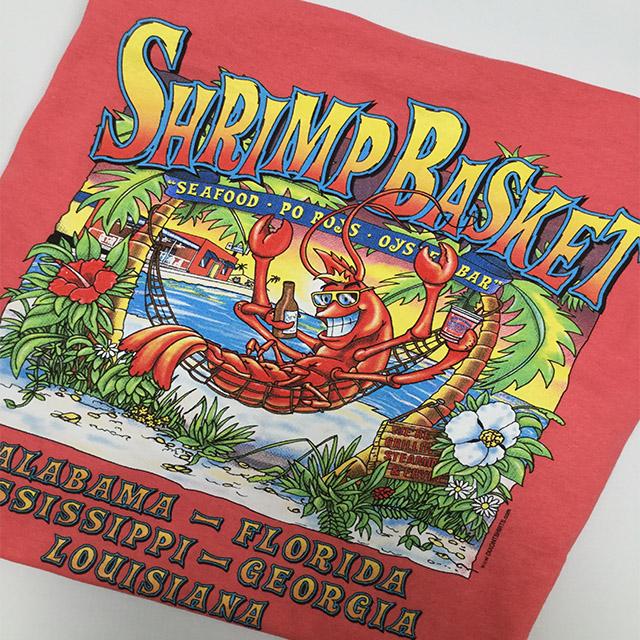 Photo of Shrimp Basket Regular T-Shirt - Coral