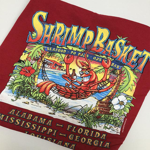 Photo of Shrimp Basket Regular T-Shirt - Red