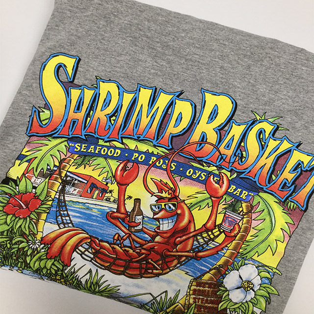 Photo of Shrimp Basket Regular T-Shirt - Grey