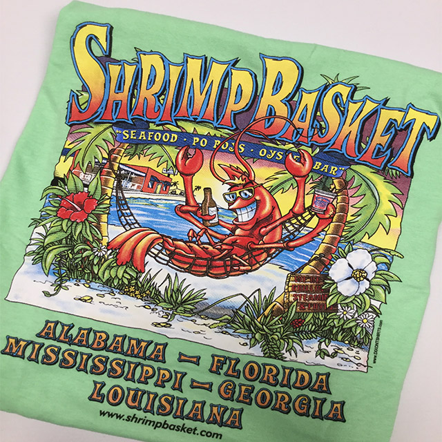 Shrimp Basket Regular T-Shirt - Mint Green