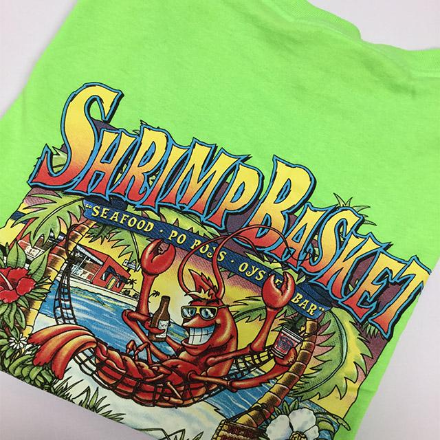 Photo of Shrimp Basket Regular T-Shirt - Neon Green