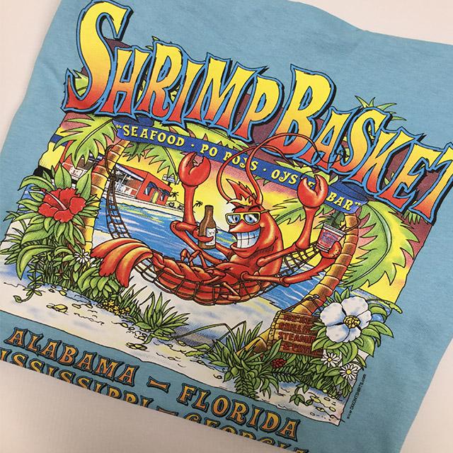 Photo of Shrimp Basket Regular T-Shirt - Sky Blue
