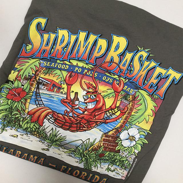 Photo of Shrimp Basket Womens V-Neck T-shirt Grey