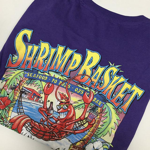 Photo of Shrimp Basket Womens V-Neck T-shirt Purple