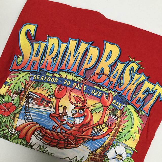 Photo of Shrimp Basket Womens V-Neck T-shirt Red