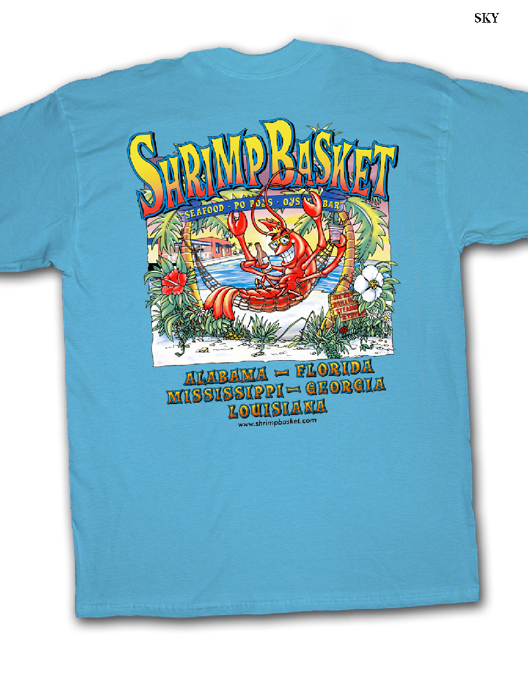 Shrimp Basket Regular T-Shirt - Sky Blue
