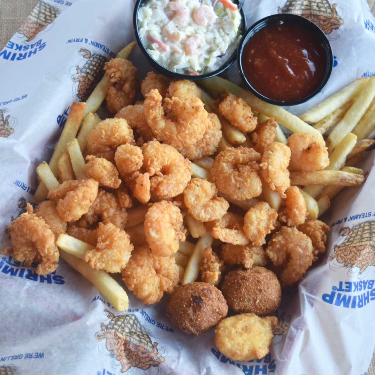 $10 POPCORN SHRIMP BASKET