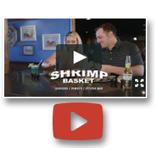 Shrimp Basket commercial featuring screen shot of couple eating