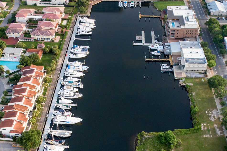 Baylen Slips Marina aerial long view