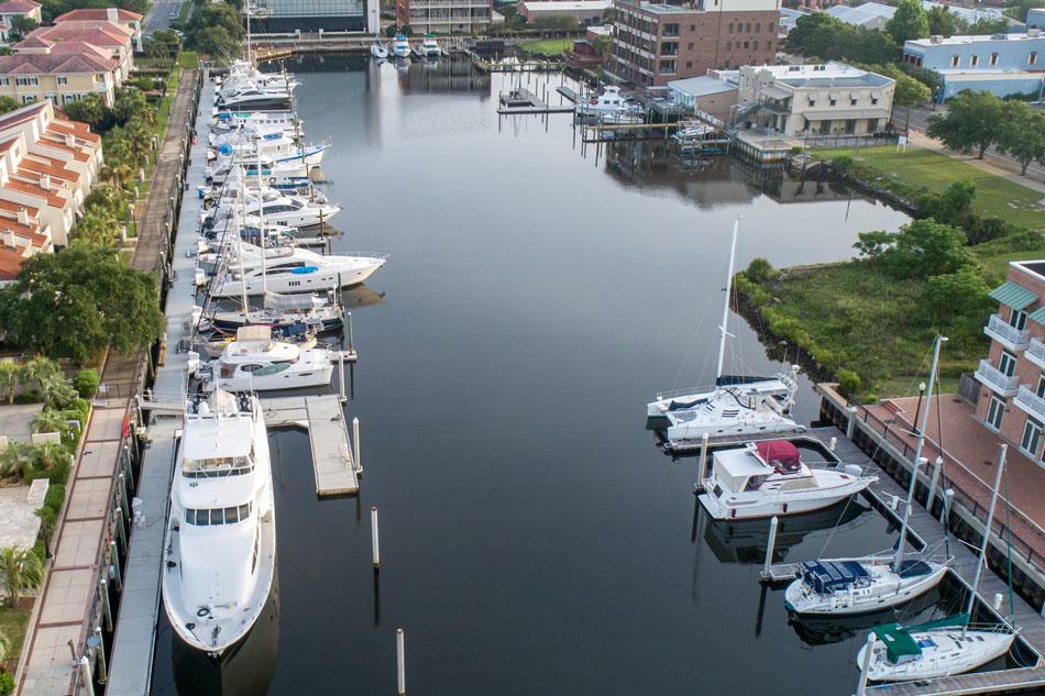 Baylen Slips Marina aerial view