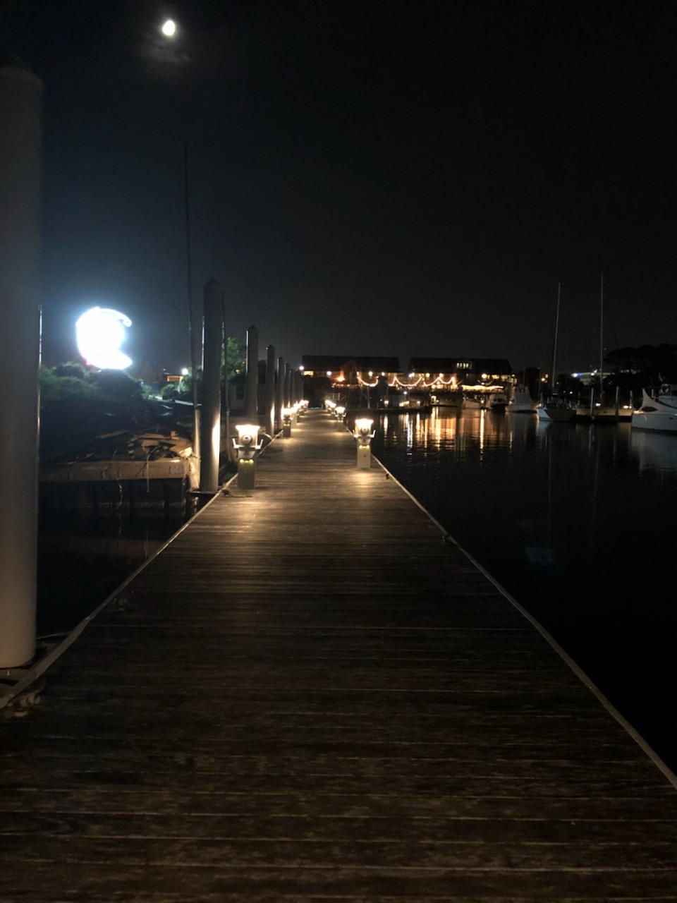 Seville Harbour at Night alternate