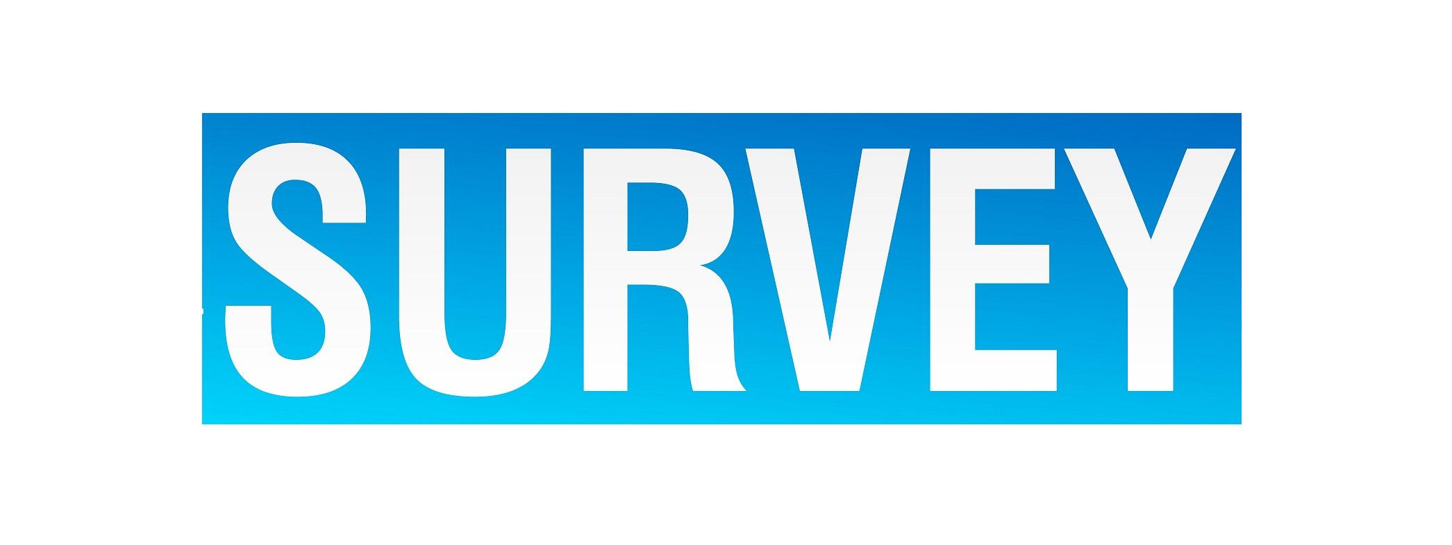 Blue text Survey