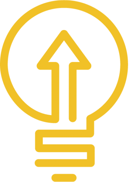 Studer Community Institute yellow lightbulb logo