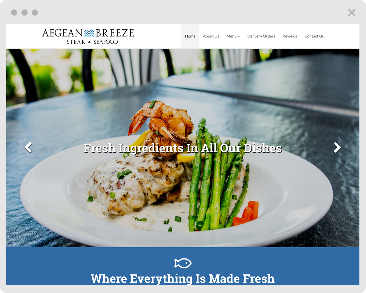 image of Aegean Breeze website