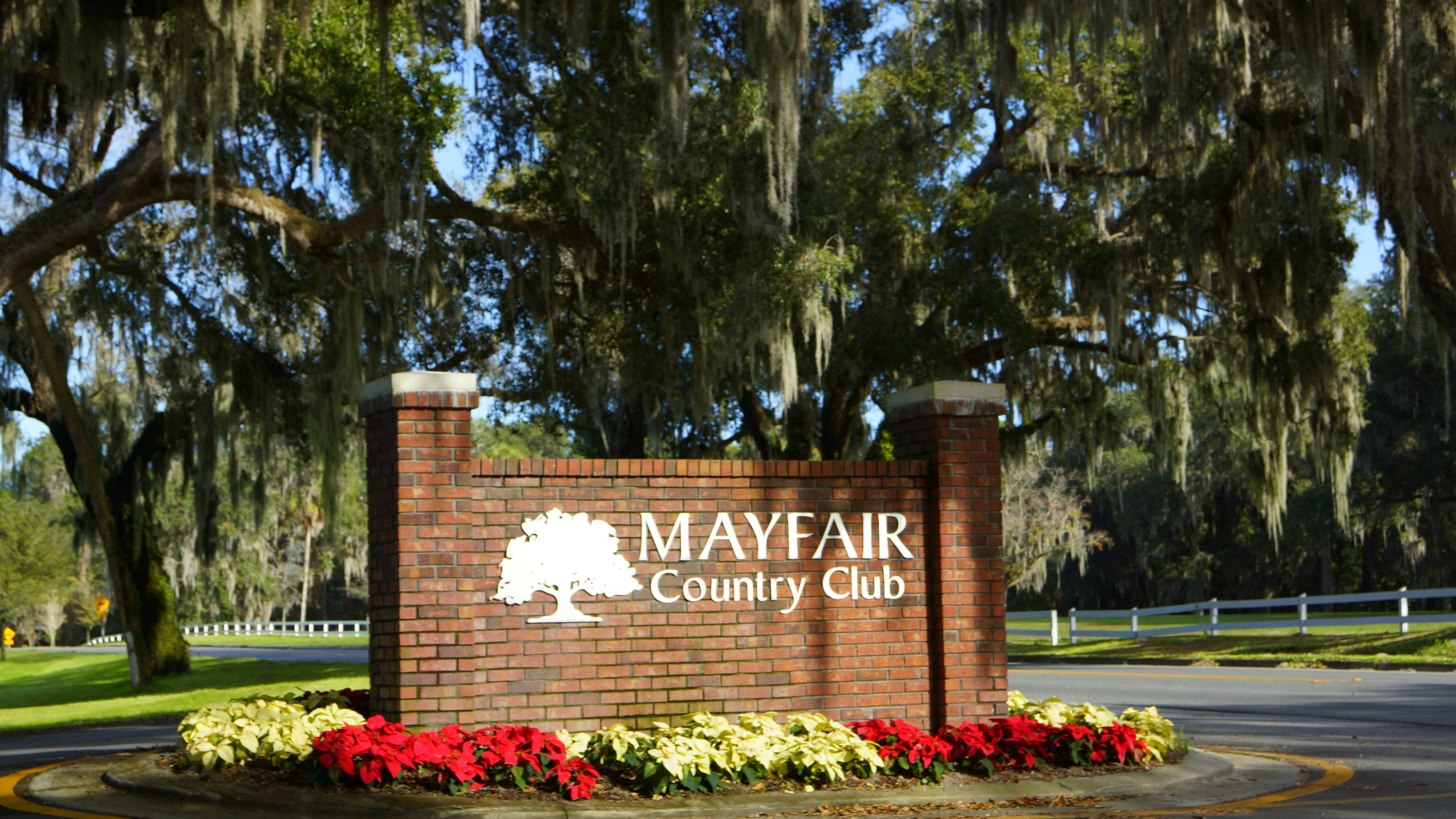 Mayfair Country Club sign