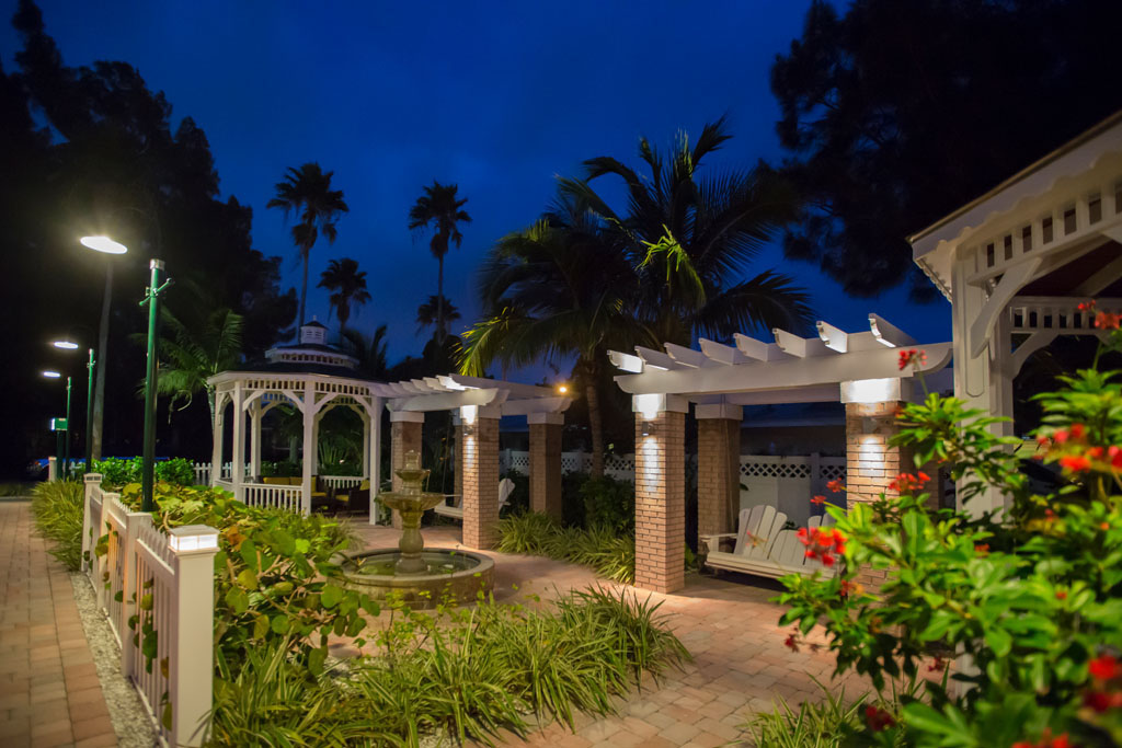 The Property Walkway with Gazebos