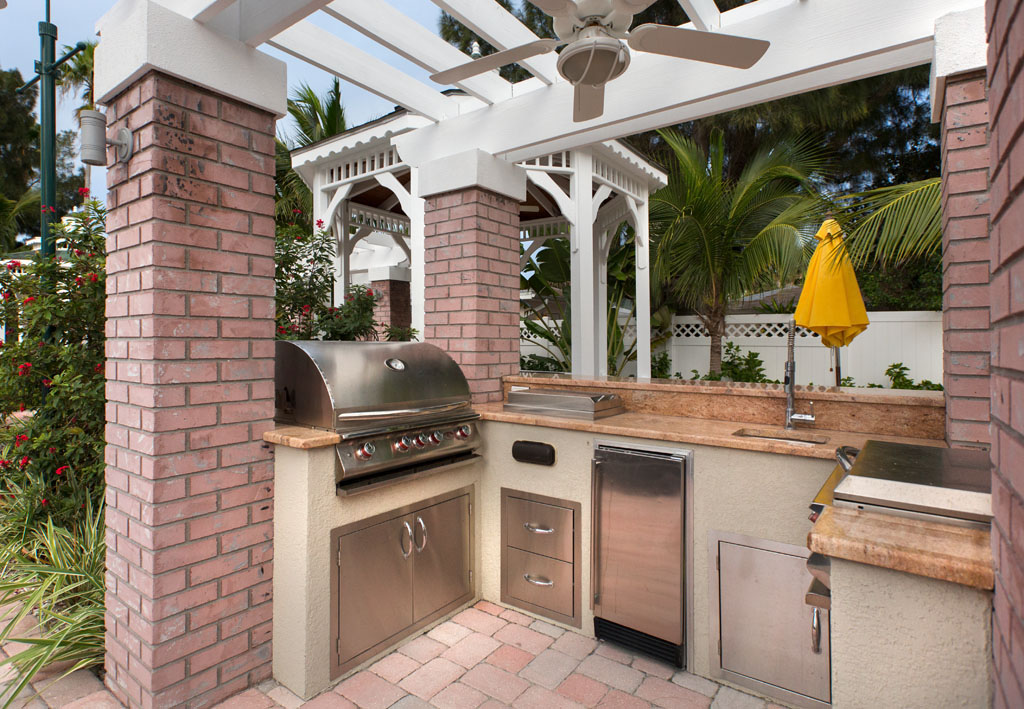 The Property Grilling Area under a Gazebo