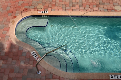 Aerial of Shallow End of Pool