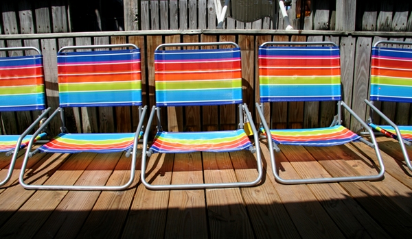 Colorful Beach Chairs at the Pool