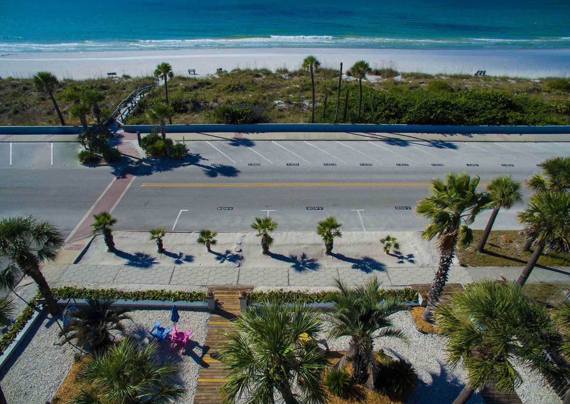 Aerial View of Beach Front Property