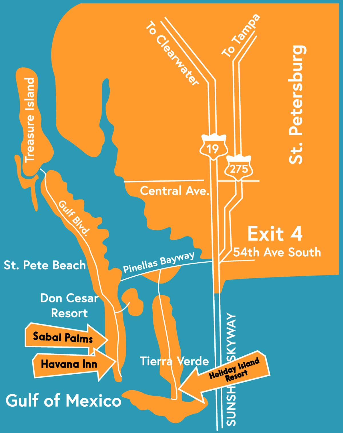 Map to Sabal Palms