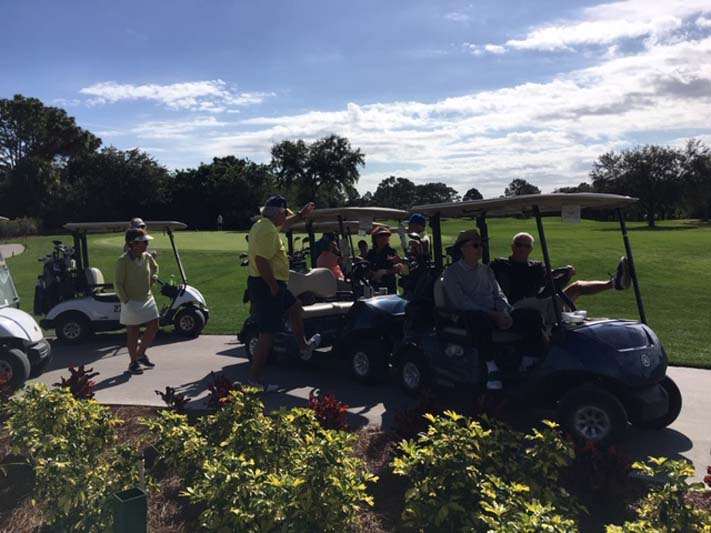 Golfers on Golf Carts