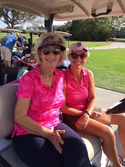 Golfers on Golf Cart