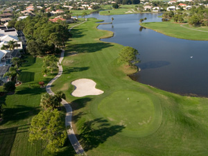 Aerial view of The Links course