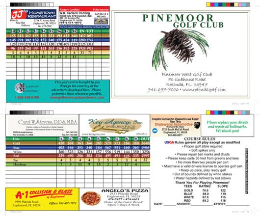 Pinemoor scorecard