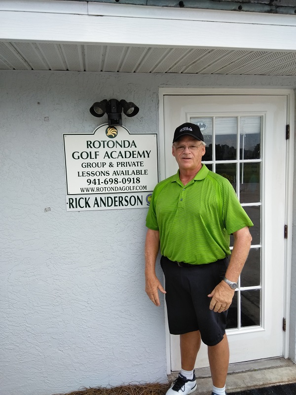 Rick Anderson stading in front of the Rotonda Golf Academy