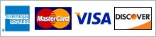 Accepted Credit Cards - American Express, Visa, MasterCard, Discover