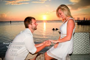 Sunset Engagement Session on Little Palm Island by Southernmost Weddings Key West
