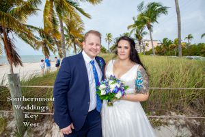 Wedding Couples on Smathers Beach by Southernmost Weddings Key West
