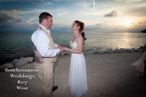 Sunset Beach Wedding Photography by Southernmost Weddings Key West