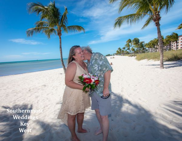 Toes in the Sand Beach Elopement by Southernmost Weddings Key West