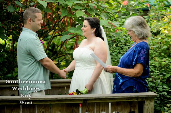 Key West Butterfly Museum Wedding <br> $1195.00