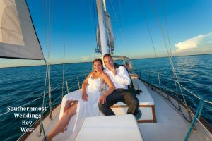 Barefoot Beach Wedding <br> and a  Private Sunset Sail <br> $1095.00