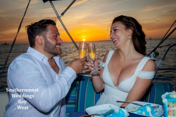 Private Sunset Sailboat Wedding Ceremony for up to 6 passengers  $795.00