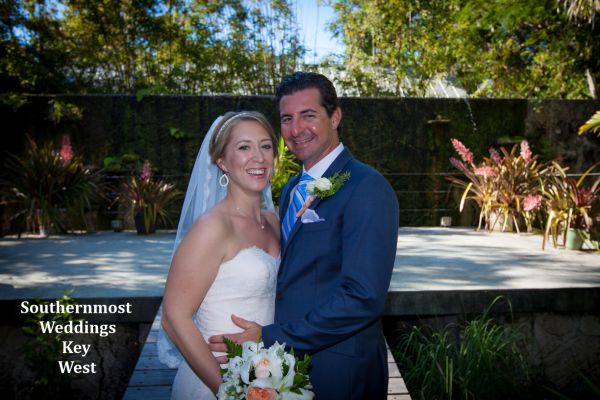 Bride & Groom getting married in Key West at the Botanical Garden by Southernmost Weddings