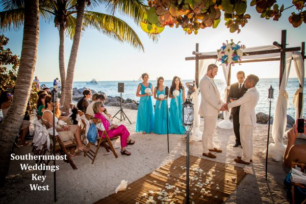 Wedding Ceremony at Ft. Zachary Taylor State Park by Southernmost Weddings