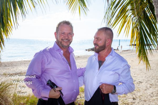 Two men get married at Ft. Zachary Taylor, Image by Southernmost Weddings Key West