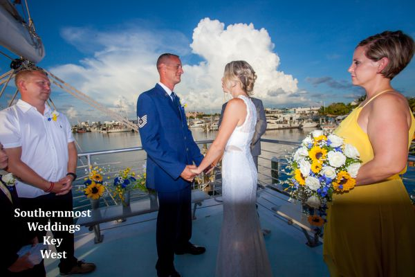 Private Catamaran Sunset Sail Wedding, $5545.00 Includes tax, fees & crew gratuity planned by Southernmost Weddings Key West