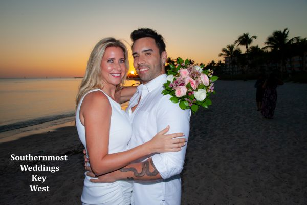 Key West Casual Wedding on Smathers Beach by Southernmost Weddings Key West